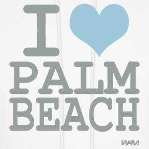White i love palm beach by wam Hoodies - Men's Hoodie