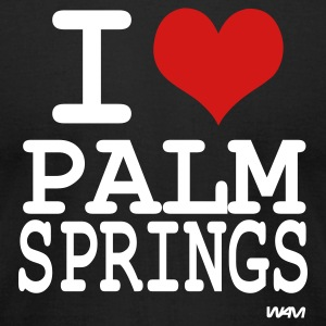 Black i love palm springs by wam T-Shirts - Men's T-Shirt by American Apparel