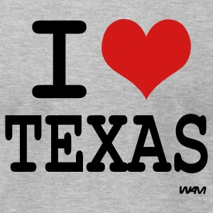 Heather grey i love texas by wam T-Shirts - Men's T-Shirt by American Apparel