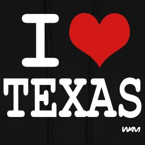 Black i love texas by wam Hooded Sweatshirts - Women's Hoodie