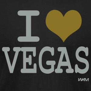 Black I love vegas by wam T-Shirts - Men's T-Shirt by American Apparel