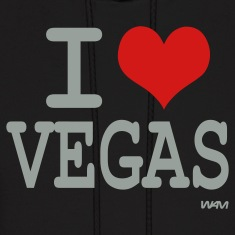 Black I love vegas by wam Hoodies