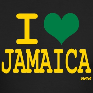 Black i love jamaica by wam Long sleeve shirts - Men's Long Sleeve T-Shirt by Next Level