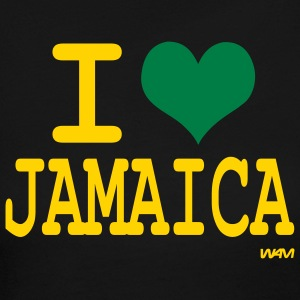Black i love jamaica by wam Long sleeve shirts - Women's Long Sleeve Jersey T-Shirt