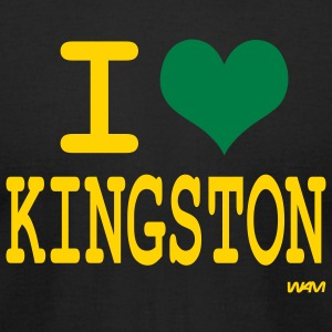 Black i love kingston by wam T-Shirts - Men's T-Shirt by American Apparel