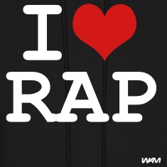 Black i love rap by wam Hoodies