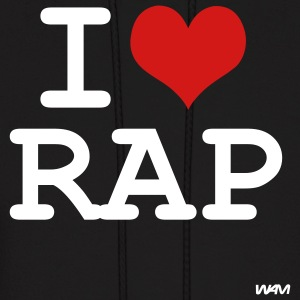 Black i love rap by wam Hoodies - Men's Hoodie