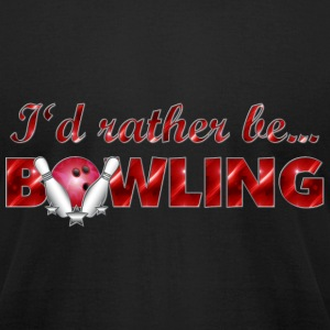 Rather be Bowling - Red - Men's T-Shirt by American Apparel