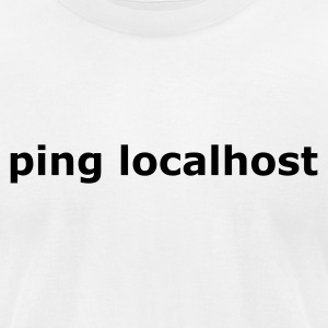 ping localhost - nerd - admin T-Shirts White - Men's T-Shirt by American Apparel