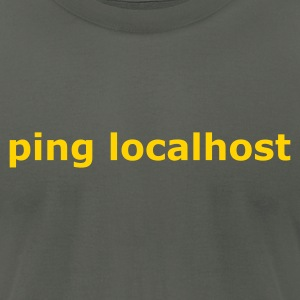 ping localhost - nerd - admin T-Shirts Asphalt - Men's T-Shirt by American Apparel