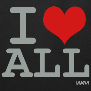 Black i love all by wam Bags  - Eco-Friendly Cotton Tote