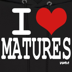Black i love matures by wam Hoodies - Men's Hoodie