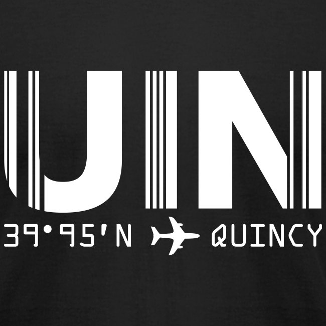 Quincy Airport Code Illinois UIN Fitted T-shirt