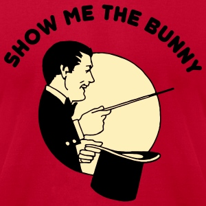 Red Show Me The Bunny T Shirt T-Shirts - Men's T-Shirt by American Apparel
