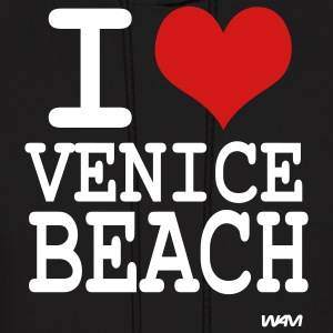 Black i love venice beach by wam Hoodies - Men's Hoodie