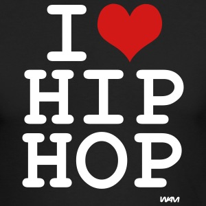 Black i love hip hop by wam Long sleeve shirts - Men's Long Sleeve T-Shirt by Next Level