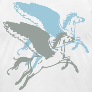 White flying horse pegasus T-Shirts - Men's T-Shirt by American Apparel