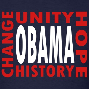 Navy Obama--4 Words T-Shirts - Men's T-Shirt