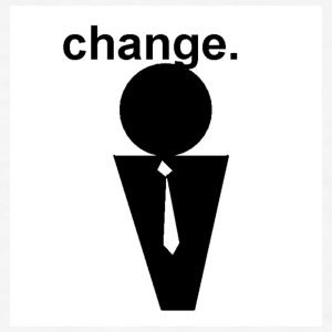 Change/Obama - Men's T-Shirt