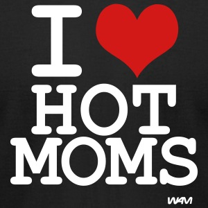 Black i love hot moms by wam T-Shirts - Men's T-Shirt by American Apparel