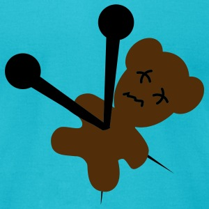 Turquoise Voodoo Teddy T-Shirts - Men's T-Shirt by American Apparel