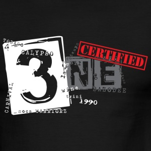 Black/white Certified Trini T-Shirts - Men's Ringer T-Shirt