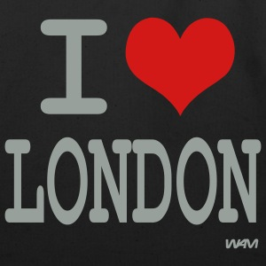 Black i love london by wam Bags  - Eco-Friendly Cotton Tote