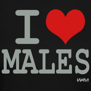 Black i love males by wam Long sleeve shirts - Women's Long Sleeve Jersey T-Shirt
