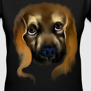 Big Doggy Eyes - Women's V-Neck T-Shirt
