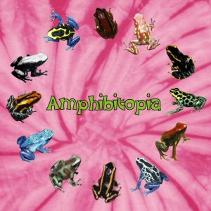 Spider pink Tree Frogs Amphibitopia T-Shirts - Unisex Tie Dye T-Shirt