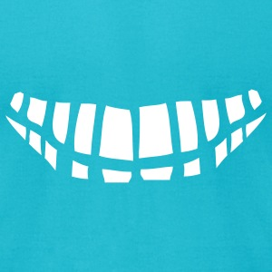 Turquoise teeth T-Shirts - Men's T-Shirt by American Apparel