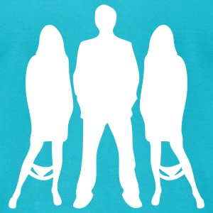 Turquoise Womanizer T-Shirts - Men's T-Shirt by American Apparel