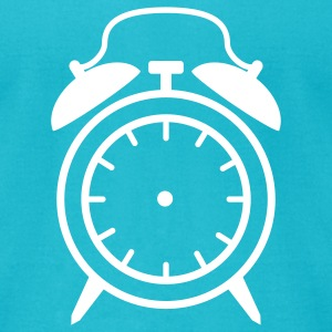 Turquoise Alarm Clock - no clockhands T-Shirts - Men's T-Shirt by American Apparel