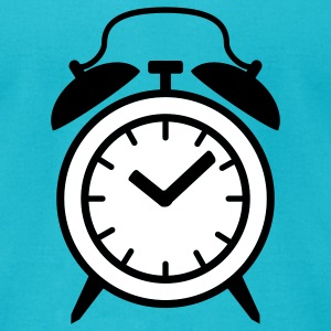 Turquoise alarm clock T-Shirts - Men's T-Shirt by American Apparel