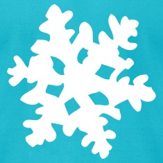 Turquoise Snowflake T-Shirts