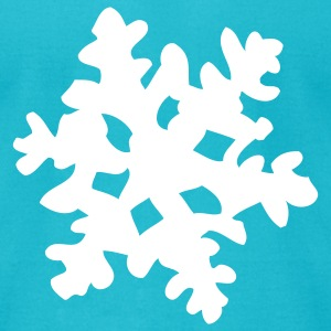 Turquoise Snowflake T-Shirts - Men's T-Shirt by American Apparel