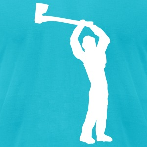 Turquoise logger T-Shirts - Men's T-Shirt by American Apparel