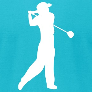 Turquoise golfer T-Shirts - Men's T-Shirt by American Apparel