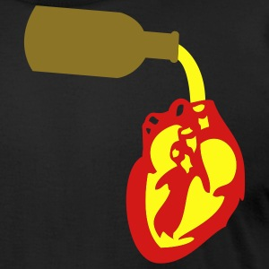 Black Beer straight in Heart Chamber T-Shirts - Men's T-Shirt by American Apparel