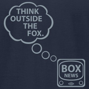 Think Outside the Fox - Navy T-Shirt M - Men's T-Shirt by American Apparel