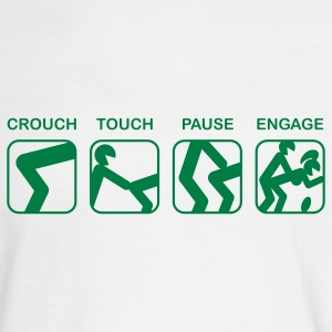White Crouch, Touch, Pause, Engage Long sleeve shirts - Men's Long Sleeve T-Shirt