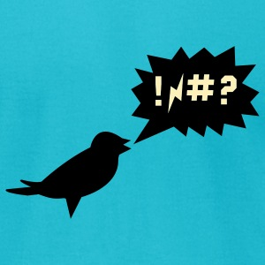 Turquoise swearing bird T-Shirts - Men's T-Shirt by American Apparel