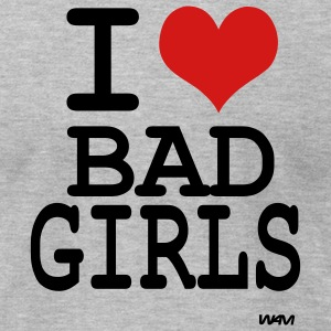 Heather grey i love bad girls by wam T-Shirts - Men's T-Shirt by American Apparel