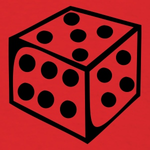 Red Dice - Number T-Shirts - Men's T-Shirt