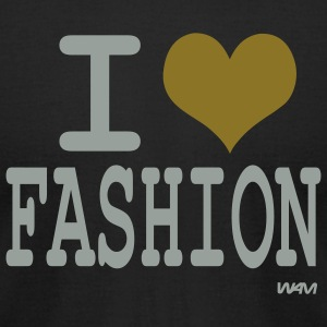 Black i love fashion by wam T-Shirts - Men's T-Shirt by American Apparel