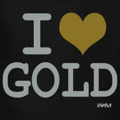 Black i love gold by wam Kids Shirts