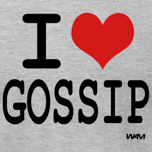 Heather grey i love gossip by wam T-Shirts - Men's T-Shirt by American Apparel