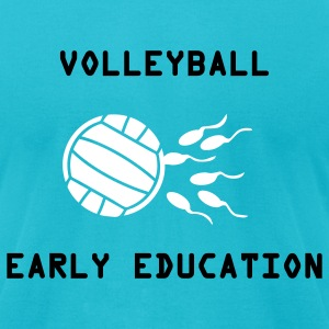 Turquoise Volleyball Early Education T-Shirts - Men's T-Shirt by American Apparel