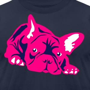 Pink Frenchie - Men's T-Shirt by American Apparel