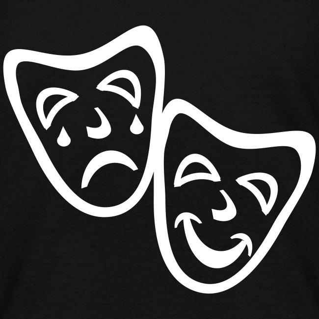 Kool Kids Tees 'Comedy Drama Masks' Kids' Tee in Black